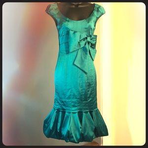 KAREN MILLEN size 4US, 8UK, 36 EU green dress